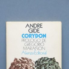 Libros de segunda mano: ANDRE GIDE. CORYDON. PRÓLOGO DE GREGORIO MARAÑÓN. Lote 152076714