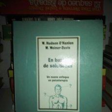 Libros de segunda mano: EN BUSCA DE SOLUCIONES # UN NUEVO ENFOQUE EN PSICOTERAPIA. Lote 152196041