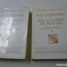 Libros de segunda mano: PSICOTERAPIA Y RELACIONES HUMANAS. ROGERS. KINGET. 2 TOMOS- P 1. Lote 152410930