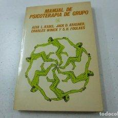 Libros de segunda mano: MANUAL DE PSICOTERAPIA DE GRUPO - KADIS, KRASNER, WINICK, FOULKES - P 1. Lote 152414434