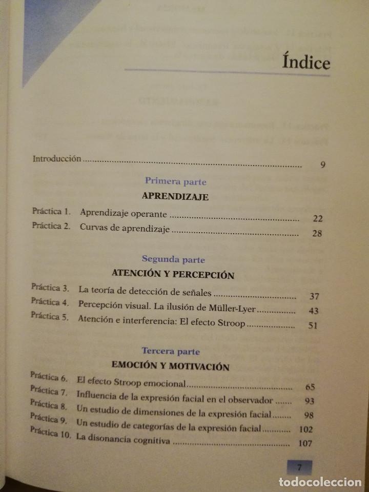 Libros de segunda mano: PRÁCTICAS DE PSICOLOGÍA BÁSICA: APRENDIENDO A INVESTIGAR. MANUAL DE PRÁCTICAS (BALLESTEROS / GARCÍA) - Foto 3 - 152632198