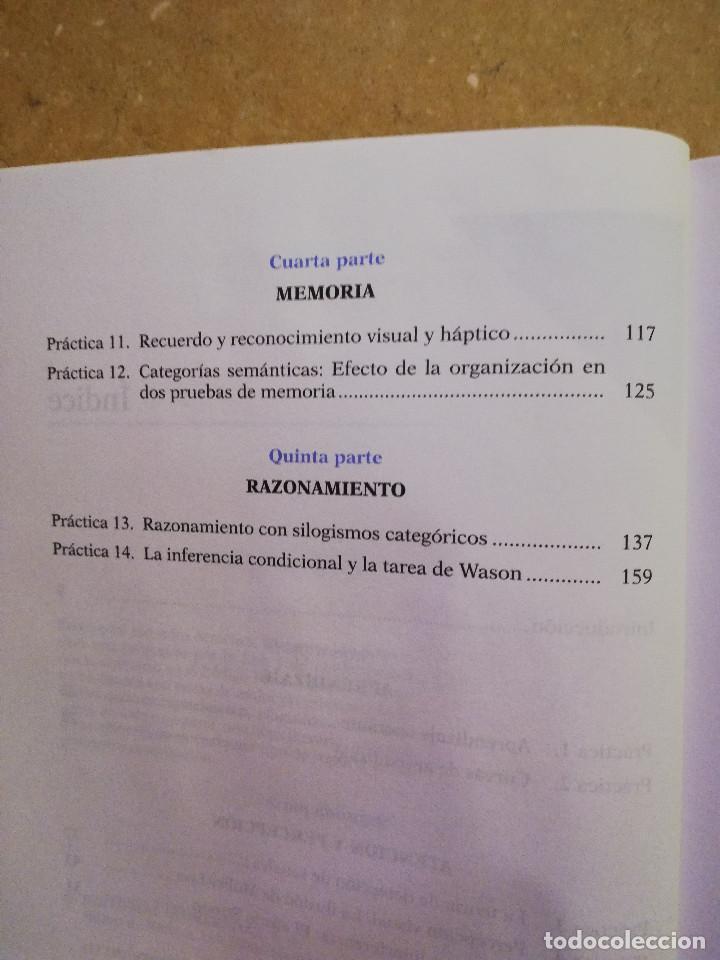 Libros de segunda mano: PRÁCTICAS DE PSICOLOGÍA BÁSICA: APRENDIENDO A INVESTIGAR. MANUAL DE PRÁCTICAS (BALLESTEROS / GARCÍA) - Foto 4 - 152632198