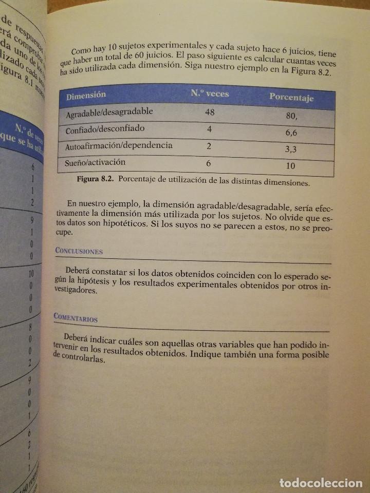 Libros de segunda mano: PRÁCTICAS DE PSICOLOGÍA BÁSICA: APRENDIENDO A INVESTIGAR. MANUAL DE PRÁCTICAS (BALLESTEROS / GARCÍA) - Foto 5 - 152632198
