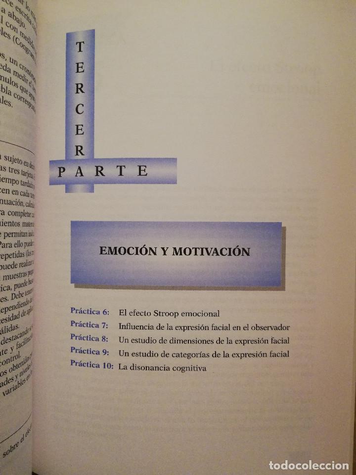 Libros de segunda mano: PRÁCTICAS DE PSICOLOGÍA BÁSICA: APRENDIENDO A INVESTIGAR. MANUAL DE PRÁCTICAS (BALLESTEROS / GARCÍA) - Foto 6 - 152632198