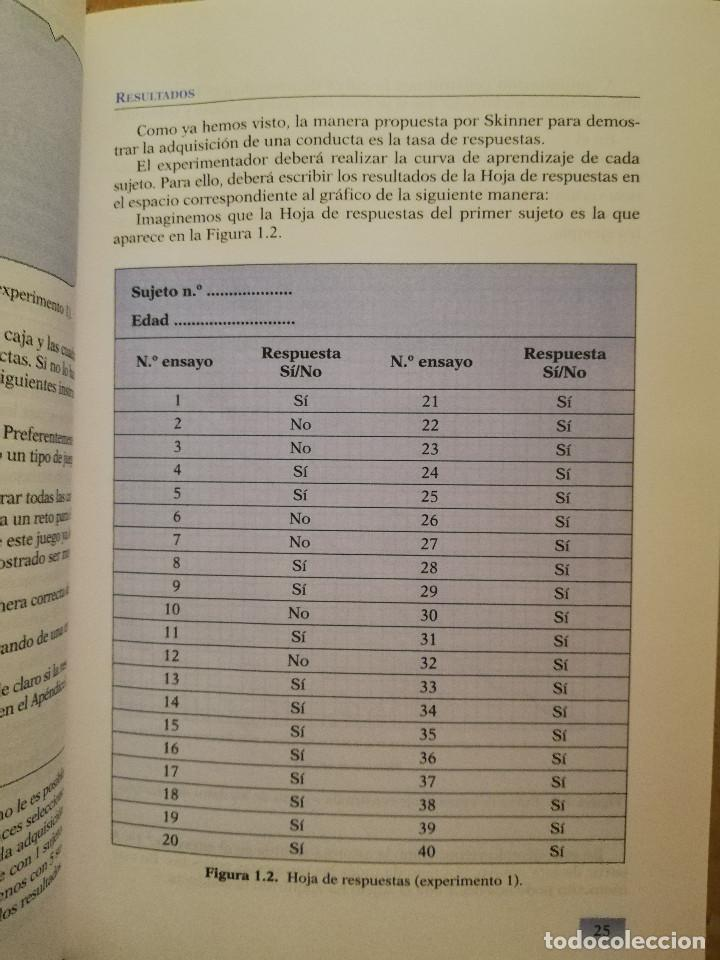 Libros de segunda mano: PRÁCTICAS DE PSICOLOGÍA BÁSICA: APRENDIENDO A INVESTIGAR. MANUAL DE PRÁCTICAS (BALLESTEROS / GARCÍA) - Foto 8 - 152632198