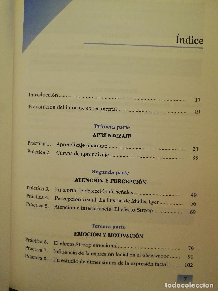 Libros de segunda mano: PRÁCTICAS DE PSICOLOGÍA BÁSICA: APRENDIENDO A INVESTIGAR. CUADERNO DE TRABAJO DEL ESTUDIANTE - Foto 3 - 152632382