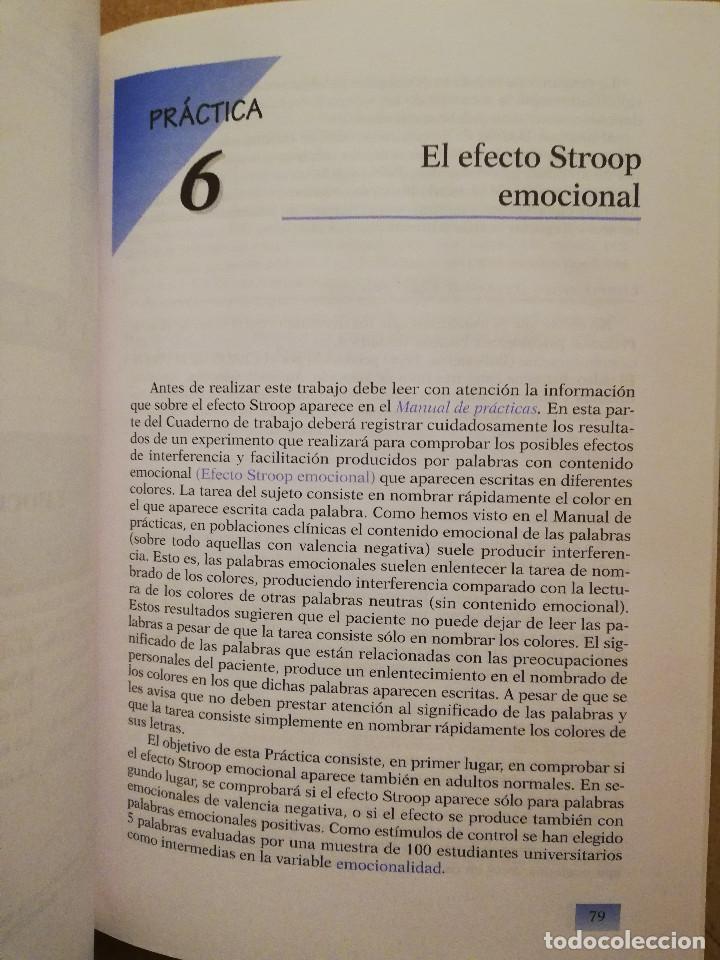 Libros de segunda mano: PRÁCTICAS DE PSICOLOGÍA BÁSICA: APRENDIENDO A INVESTIGAR. CUADERNO DE TRABAJO DEL ESTUDIANTE - Foto 7 - 152632382