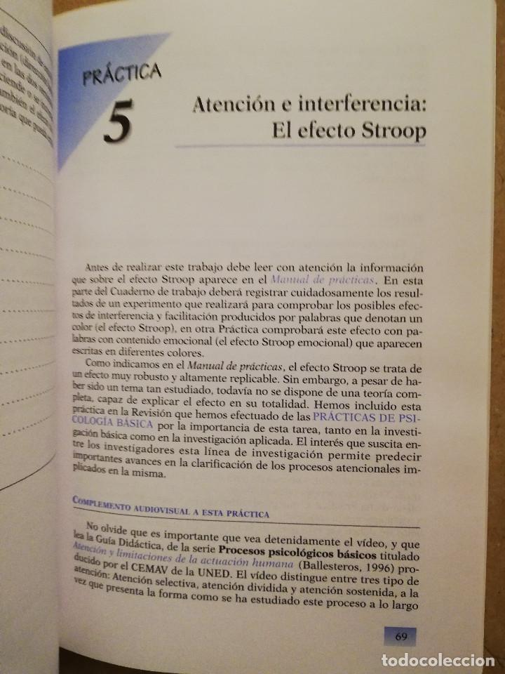 Libros de segunda mano: PRÁCTICAS DE PSICOLOGÍA BÁSICA: APRENDIENDO A INVESTIGAR. CUADERNO DE TRABAJO DEL ESTUDIANTE - Foto 9 - 152632382