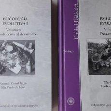 Libros de segunda mano: PSICOLOGIA EVOLUTIVA I - VOL. 1 INTRODUCCION AL DESARROLLO VOL.2 DESARROLLO SOCIAL. Lote 180827228