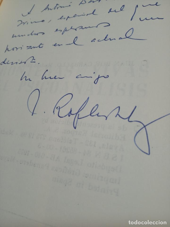 FRONTERAS VIVAS DEL PSICOANÁLISIS - JUAN ROF CARBALLO - FIRMADO Y DEDICADO - ED. KARPOS - MADRID - (Libros de Segunda Mano - Pensamiento - Psicología)
