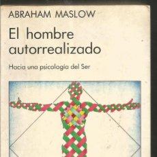 Livros em segunda mão: ABRAHAM MASLOW. EL HOMBRE AUTORREALIZADO. KAIROS. Lote 153533926