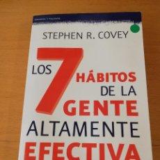 Libros de segunda mano: LOS 7 HÁBITOS DE LA GENTE ALTAMENTE EFECTIVA (STEPHEN R. COVEY) PAIDÓS. Lote 210712614