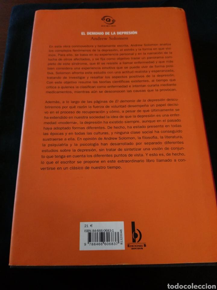 Libros de segunda mano: El demonio de la depresión. Andrew Solomon - Foto 2 - 154093429