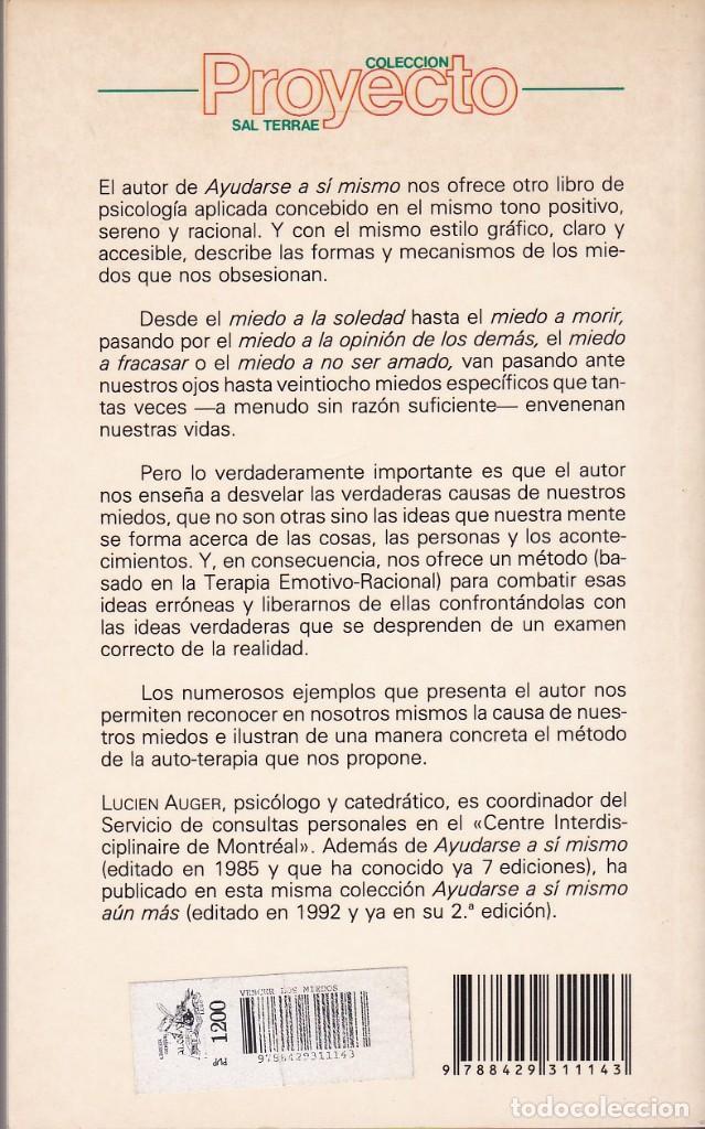 Libros de segunda mano: Vencer los miedos. Lucien Auger - Foto 2 - 154833374