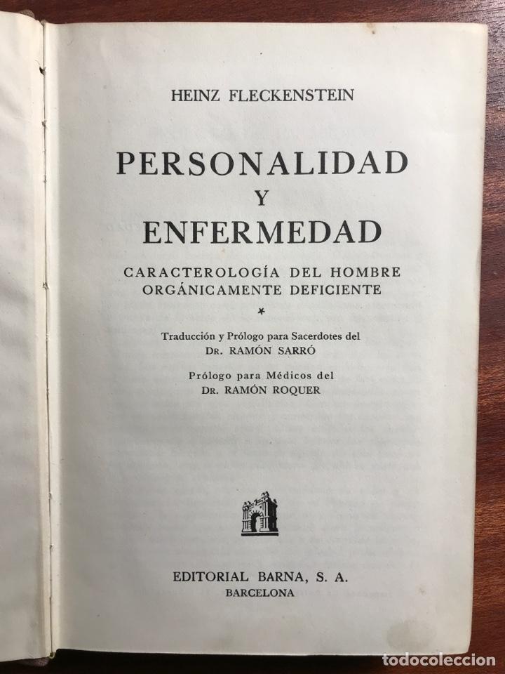 PERSONALIDAD Y ENFERMEDAD, HEINZ FLECKENSTEIN (Libros de Segunda Mano - Pensamiento - Psicología)
