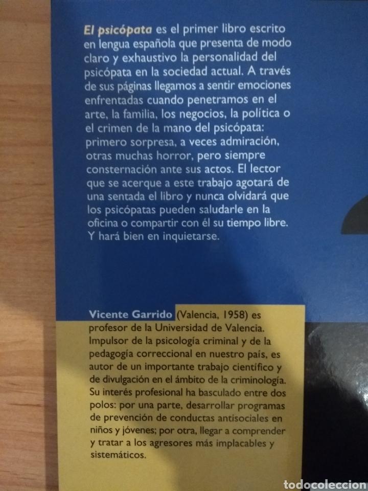 Libros de segunda mano: El psicópata. Un camaleón en la sociedad actual. Vicente Garrido. Algar editorial. - Foto 2 - 155865626