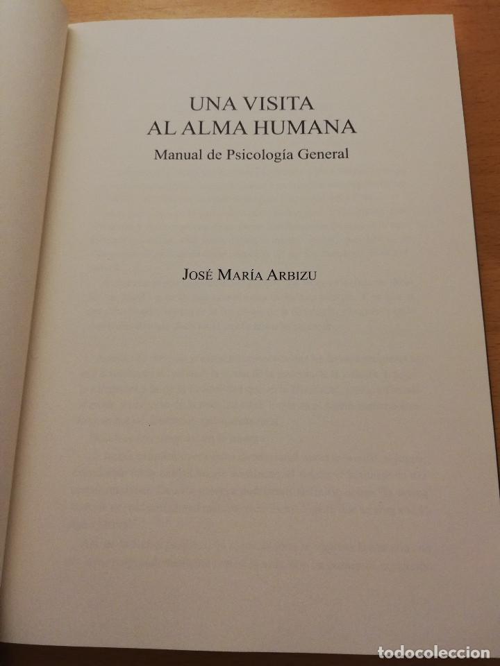 Libros de segunda mano: UNA VISITA AL ALMA HUMANA. MANUAL DE PSICOLOGÍA GENERAL (JOSÉ MARÍA ARBIZU) - Foto 2 - 155866098