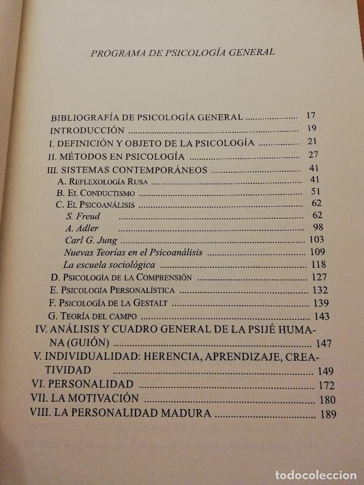 Libros de segunda mano: UNA VISITA AL ALMA HUMANA. MANUAL DE PSICOLOGÍA GENERAL (JOSÉ MARÍA ARBIZU) - Foto 3 - 155866098