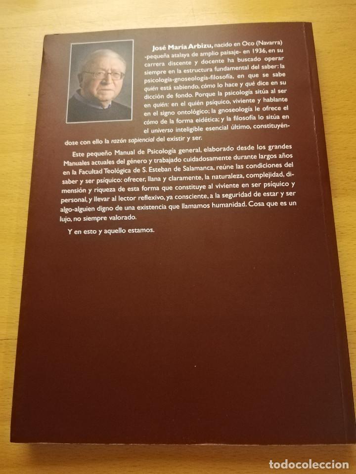 Libros de segunda mano: UNA VISITA AL ALMA HUMANA. MANUAL DE PSICOLOGÍA GENERAL (JOSÉ MARÍA ARBIZU) - Foto 4 - 155866098