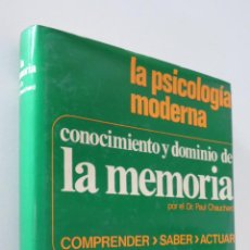 Libros de segunda mano: CONOCIMIENTO Y DOMINIO DE LA MEMORIA - CHAUCHARD, PAUL. Lote 157671460