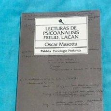 Libros de segunda mano: LECTURAS DE PSICOANALISIS: FREUD, LACAN (BIBLIOTECA DE PSICOLOGIA PROFUNDA) TAPA BLANDA – SEP 1993. Lote 157818210