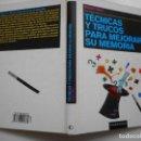 Libros de segunda mano: ROBERT ALLEN TÉCNICAS Y TRUCOS PARA MEJORAR SU MEMORIA Y93322. Lote 158229218