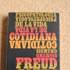 Libros de segunda mano: PSICOPATOLOGÍA DE LA VIDA COTIDIANA. FREUD (SIGMUND) MADRID, ALIANZA, 1970.. Lote 158541438