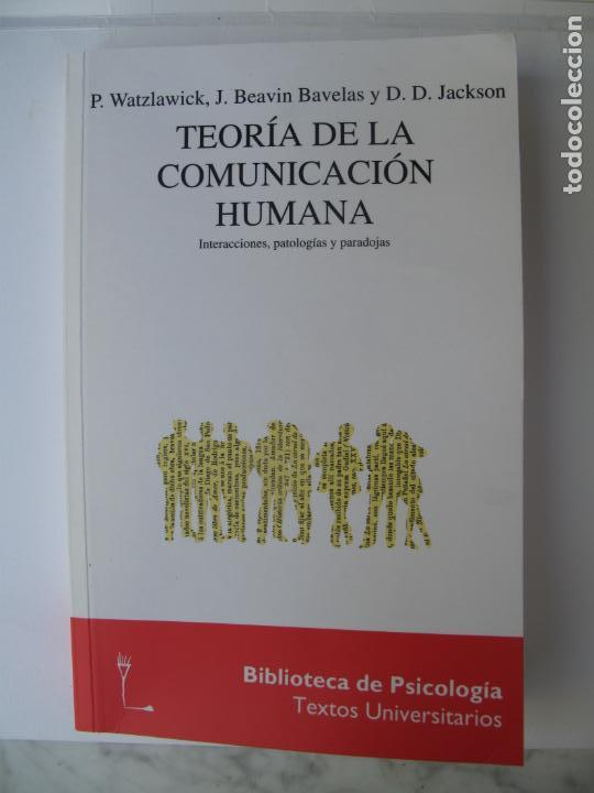 TEORÍA DE LA COMUNICACIÓN HUMANA.- P. WATZLAWICK Y OTROS.- HERDER. 11ª EDIC. 1997 (Libros de Segunda Mano - Pensamiento - Psicología)
