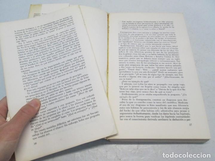 Libros de segunda mano: GREGORY BATESON. PASOS HACIA UNA ECOLOGIA DE LA MENTE. EDICIONES CARLOS LOHLE. 1972 - Foto 9 - 159261710