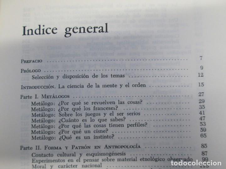 Libros de segunda mano: GREGORY BATESON. PASOS HACIA UNA ECOLOGIA DE LA MENTE. EDICIONES CARLOS LOHLE. 1972 - Foto 17 - 159261710