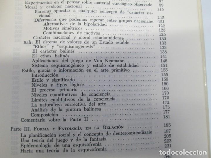 Libros de segunda mano: GREGORY BATESON. PASOS HACIA UNA ECOLOGIA DE LA MENTE. EDICIONES CARLOS LOHLE. 1972 - Foto 18 - 159261710
