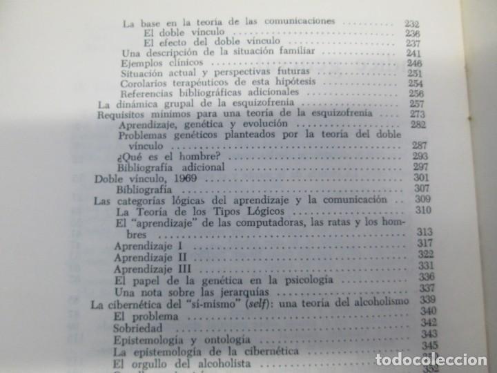 Libros de segunda mano: GREGORY BATESON. PASOS HACIA UNA ECOLOGIA DE LA MENTE. EDICIONES CARLOS LOHLE. 1972 - Foto 19 - 159261710