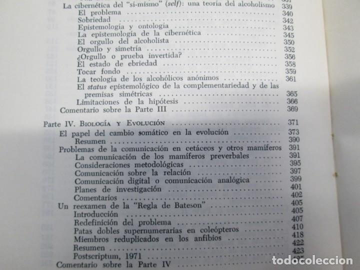Libros de segunda mano: GREGORY BATESON. PASOS HACIA UNA ECOLOGIA DE LA MENTE. EDICIONES CARLOS LOHLE. 1972 - Foto 20 - 159261710