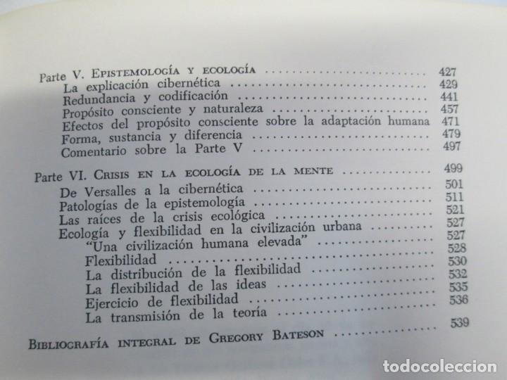 Libros de segunda mano: GREGORY BATESON. PASOS HACIA UNA ECOLOGIA DE LA MENTE. EDICIONES CARLOS LOHLE. 1972 - Foto 21 - 159261710
