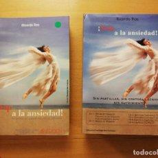 Libros de segunda mano: ¡STOP A LA ANSIEDAD! SIN PASTILLAS, SIN COSTOSAS SESIONES, SIN SUFRIMIENTO (R. ROS) LIBRO + 6 CDS. Lote 160591966