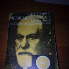Libros de segunda mano: VIDA Y OBRA DE SIGMUND FREUD 1. ERNEST JONES. EST17B6. Lote 161392370