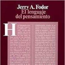 Libros de segunda mano: EL LENGUAJE DEL PENSAMIENTO. JERRY FODOR. Lote 162184990