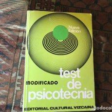 Libros de segunda mano: TEST DE PSICOTECNIA. NUEVA EDICIÓN MODIFICADO.. Lote 162560069