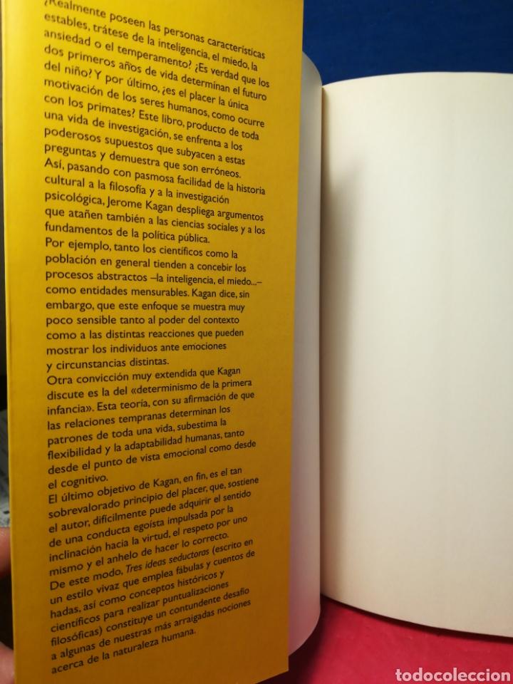 Libros de segunda mano: Tres ideas seductoras: la abstracción, el determinismo en la infancia y el principio del placer - Foto 4 - 162906346