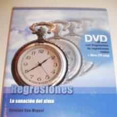 Libros de segunda mano: DVD LIBRO REGRESIONES. LA SANACIÓN DEL ALMA DVD 120 MIN LIBRO 76 PÁG 2009 (PRECINTADO). Lote 163198438