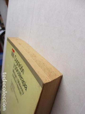Libros de segunda mano: COGNICION Y PSICOTERAPIA. MAHONEY Michael J y FREEMAN Arthur. 1988. 1ª ed. Ediciones Paidós - Foto 3 - 163532914