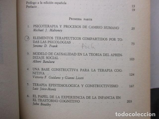 Libros de segunda mano: COGNICION Y PSICOTERAPIA. MAHONEY Michael J y FREEMAN Arthur. 1988. 1ª ed. Ediciones Paidós - Foto 12 - 163532914