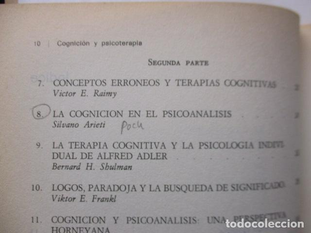 Libros de segunda mano: COGNICION Y PSICOTERAPIA. MAHONEY Michael J y FREEMAN Arthur. 1988. 1ª ed. Ediciones Paidós - Foto 13 - 163532914