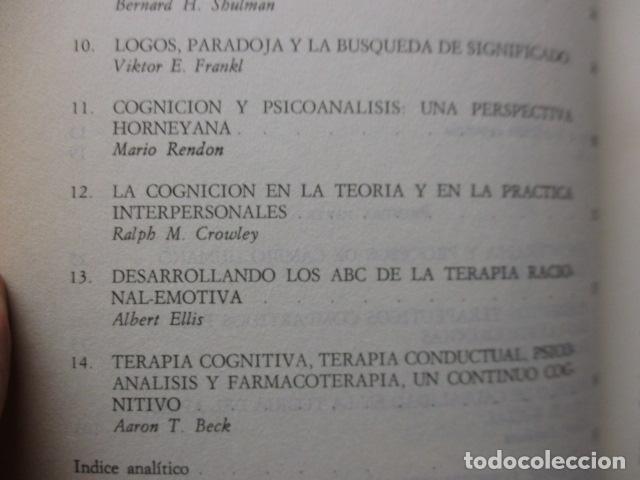 Libros de segunda mano: COGNICION Y PSICOTERAPIA. MAHONEY Michael J y FREEMAN Arthur. 1988. 1ª ed. Ediciones Paidós - Foto 14 - 163532914