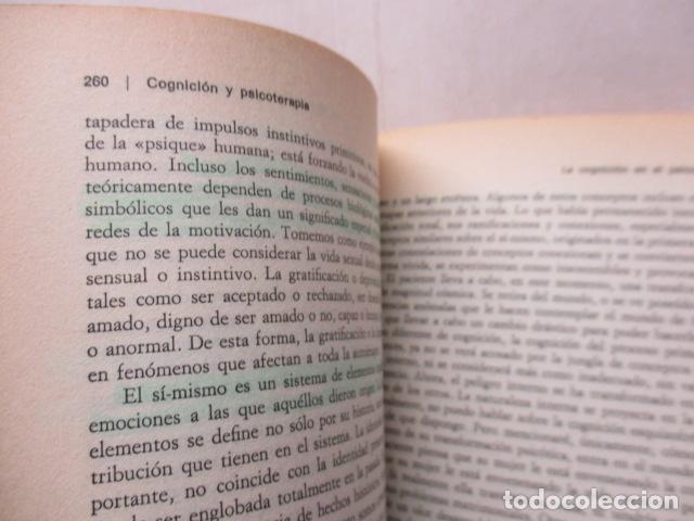 Libros de segunda mano: COGNICION Y PSICOTERAPIA. MAHONEY Michael J y FREEMAN Arthur. 1988. 1ª ed. Ediciones Paidós - Foto 16 - 163532914