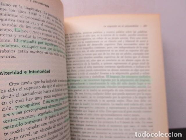 Libros de segunda mano: COGNICION Y PSICOTERAPIA. MAHONEY Michael J y FREEMAN Arthur. 1988. 1ª ed. Ediciones Paidós - Foto 18 - 163532914