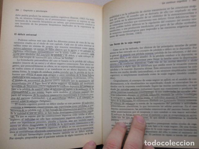 Libros de segunda mano: COGNICION Y PSICOTERAPIA. MAHONEY Michael J y FREEMAN Arthur. 1988. 1ª ed. Ediciones Paidós - Foto 19 - 163532914