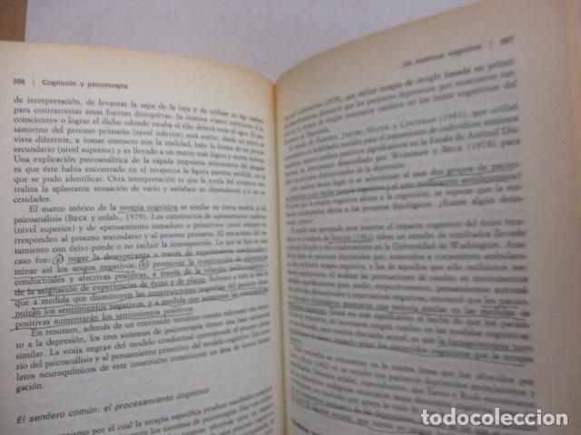 Libros de segunda mano: COGNICION Y PSICOTERAPIA. MAHONEY Michael J y FREEMAN Arthur. 1988. 1ª ed. Ediciones Paidós - Foto 21 - 163532914