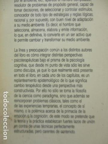 Libros de segunda mano: COGNICION Y PSICOTERAPIA. MAHONEY Michael J y FREEMAN Arthur. 1988. 1ª ed. Ediciones Paidós - Foto 24 - 163532914