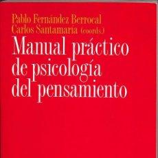Libros de segunda mano: MANUAL PRÁCTICO DE PSICOLOGÍA DEL PENSAMIENTO. Lote 163928514